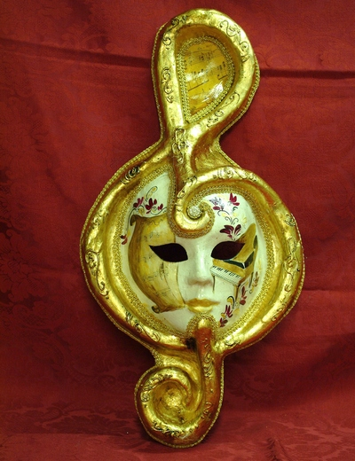 TREBLE CLEF WITH PAPIER-MACHE